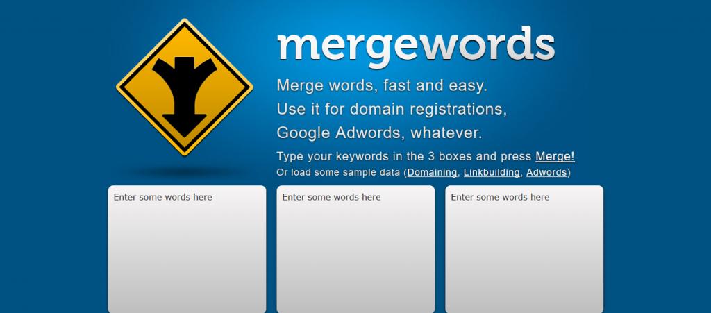 Mergewords Keyword Tool
