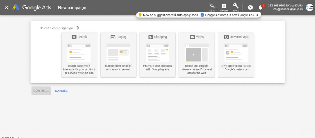 Google Ads Campaign Setup