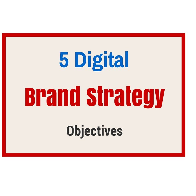 Digital Brand Strategy Objectives