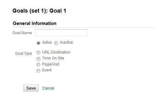 Analytics Goal Tracking