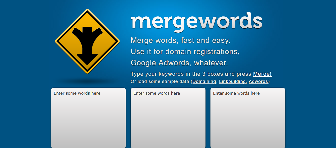 Mergewords Keyword Tool