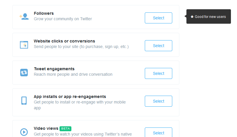 Twitter Ad Campaign Types