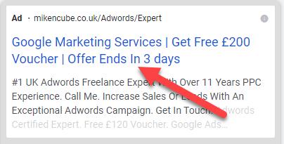 Google Ads Countdown Timer