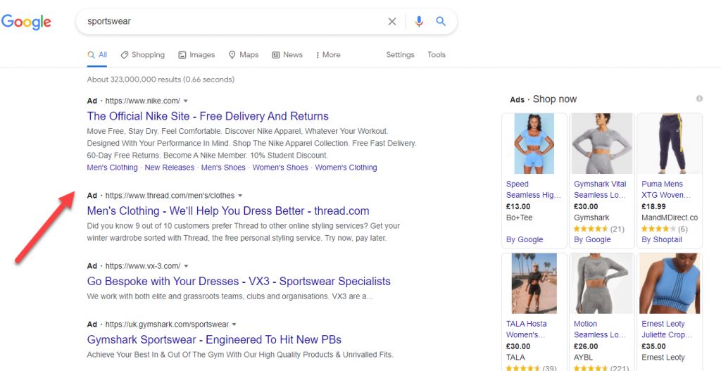 Search Page Results