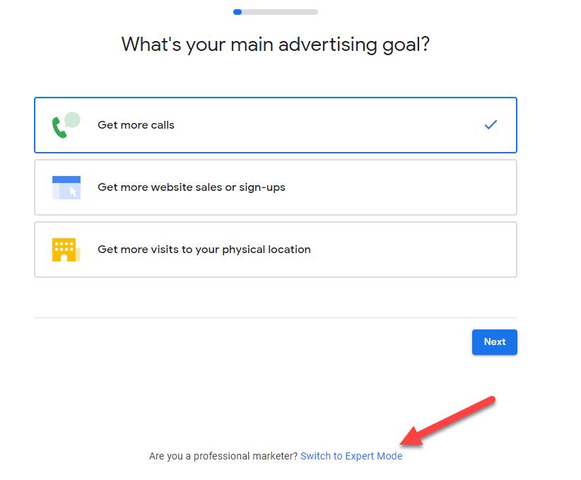 Google ads setup